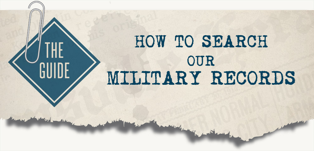 How to search our military records