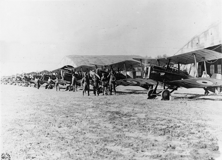 Royal Air Force scouting planes, WWI