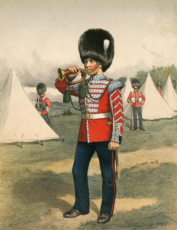 British army bugler 1870