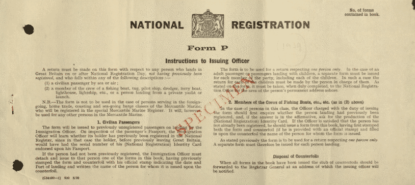 1939 Register Original Forms Findmypast